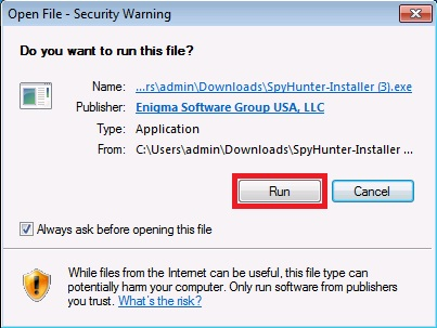 Download and Install Instructions for SpyHunter on Safari
